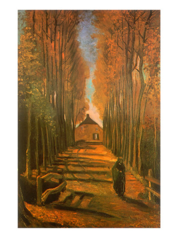 Van Gogh Poplar Lined Path
