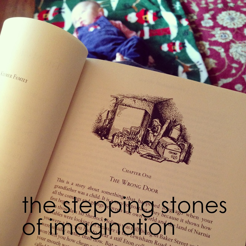 The stepping stones of imagination, on The Ginger Warrior